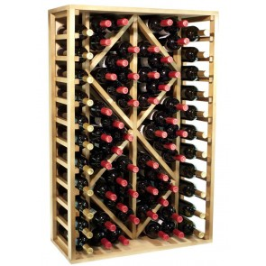 Bottle rack pine Godello 70 bottles Rhombus