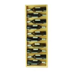 Natural wall bottle rack varnished 10 bottles Mencia series