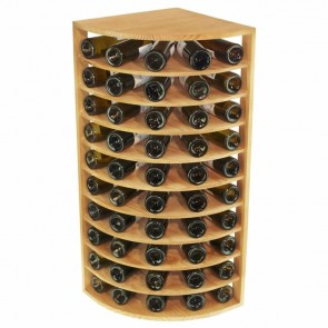 Corner Pine Wine Rack Godello with Shelves 50 Bottles