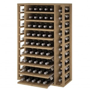 Pine Wine Rack Godello 65 Bottles with Removable Shelves