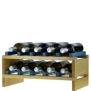 Bottle rack of stackable modules
