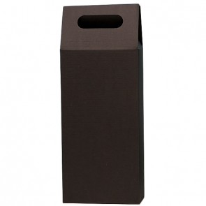 Gift Box expositor 1 bottle for wine or cava - Mod. Kraft Marron