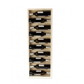 White wall-mounted bottle rack 10 bottles Mencia series