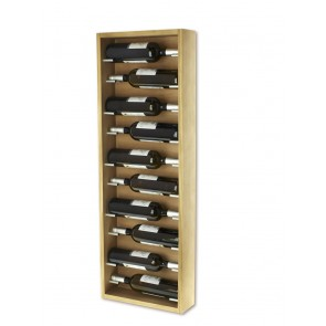 Bottle Rack for wall oak 10 bottle serie Mencia