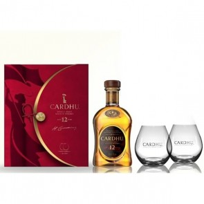 Cardhu Single Malt 12 years old Whisky with 2 free glasses